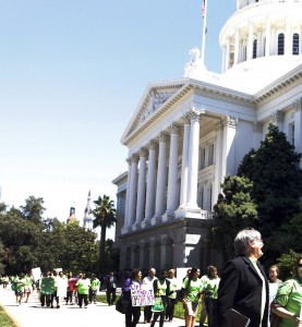 Supporters of fair sentencing for youth march on the capitol